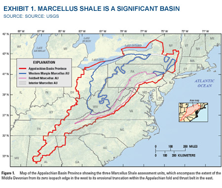 Exhibit 1. Marcellus Shale Is A Significant Basin